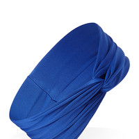 FOREVER 21 Stretch Knit Knotted Headwrap Royal One