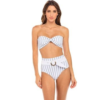 Revel Rey Hampton Stripe Quinn Top & Quinn Bottom Bikini Set