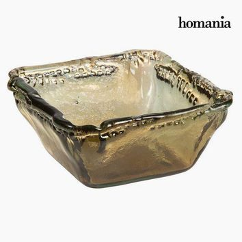 Recycled Glass Bowl Amber - Crystal Colours Deco Collection by Homania