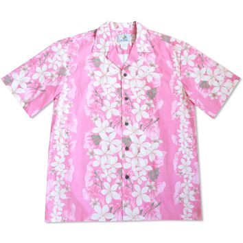 Kuulei Pink Hawaiian Cotton Shirt