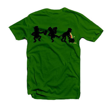 Puking Leprechaun - St Patrick's Day - tee shirt