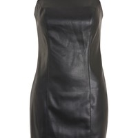 PU Strappy Mini Slip Dress - Dresses - Clothing