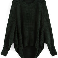 Green Oversized Knit Winter Trendy Sweater