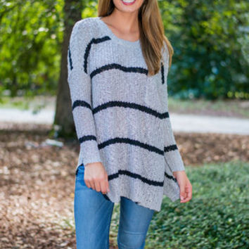 The Go To Sweater, Gray-Black