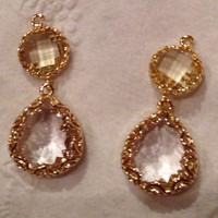 Jonquil Pale Yellow Clear Crystal and Gold by JewelsandJules