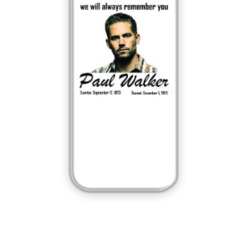 RIP PAUL WALKER - iPhone 5&5s Case