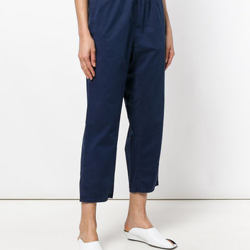 Mm6 Maison Margiela Cropped straight-leg Trousers - Farfetch