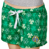 Denver Nuggets Ladies Kelly Green Colleen Boxer Shorts