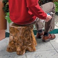 Design Toscano Ceramic Black Forest Tree Stump Garden Stool (Discontinued by Manufacturer)