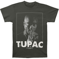 Tupac Men's  Praying Charcoal Hthr T-shirt Charcoal Heather