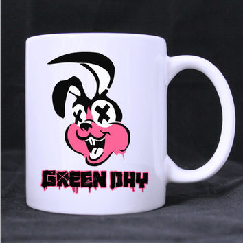 green day design twin side  white mug