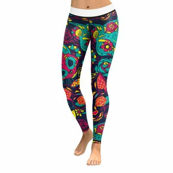 Skull Leggings & Yoga Pants High Quality Style 2