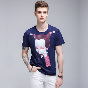 Men's Fashion V-neck Men Long Sleeve T-shirts Korean Slim Tops Bottoming Shirt [6543992963]