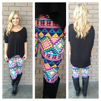 Aztec Pastel Printed Leggings