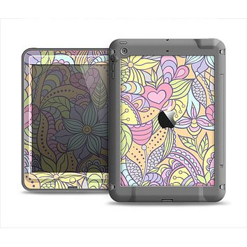 The Subtle Abstract Flower Pattern Apple iPad Air LifeProof Nuud Case Skin Set