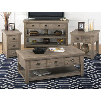 Jofran 940-1 4 Piece Reclaimed Pine Coffee Table Set