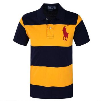 Ralph Lauren Large Stripes Men's Polo Shirt 201