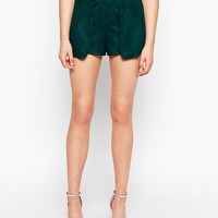 Sister Jane Woodstock Faux Suede Shorts at asos.com