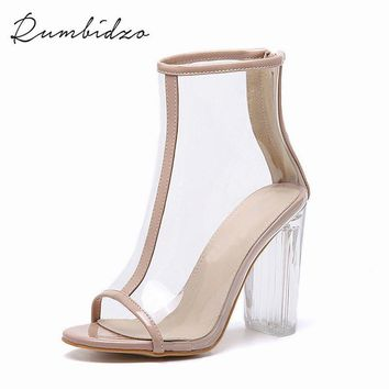 2017 Sexy PVC Transparent Gladiator Sandals Peep Toe Shoes Clear 94610d4c7872