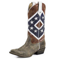 Roper Womens Confederate Rebel Flag Cowgirl Boot