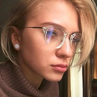 KOTTDO Women Retro Eye Glasses Frame Brand Men Metal Vintage Eyelasses Optical Glasses Frame Female Transparent Glasses Oculos