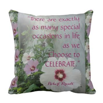American MoJo Pillow Celebrate, Paradise Quotes