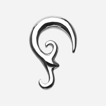 The Pirate's Hook Steel Ear Gauge Spiral Hanging Taper