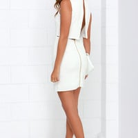 Go All Out Ivory Sleeveless Dress