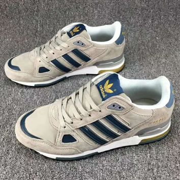 Adidas ZX 750 Casual Fashion Sneakers Running Sports Shoes Grey+Blue G-CSXY