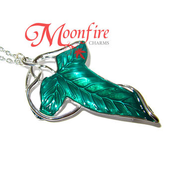 THE RING FELLOWSHIP Elven Leaf Brooch Necklace