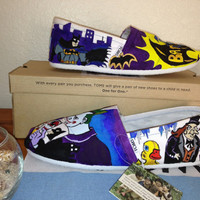 DC Universe BATMAN  comics TOMS by Memesterchic on Etsy