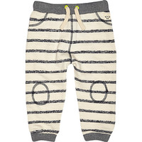 River Island Mini boys stone stripe joggers