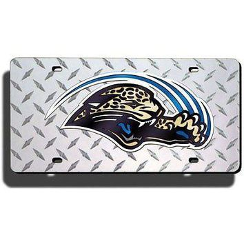Jacksonville Jaguars NFL Laser Cut Diamond Plate License