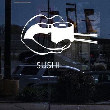 Window and  Wall Decal Sushi Food Japan Oriental Restaurant Vinyl Stickers Art Mural Unique Gift ig2574w