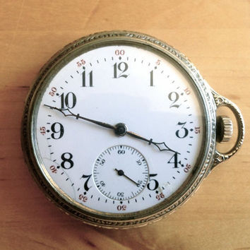 1919 WORKING Pocket Watch - Burlington - Railroad Grade - 14k White Gold -