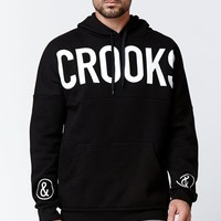 Crooks and Castles Banner Dolman Pullover Hoodie - Mens Hoodie - Black