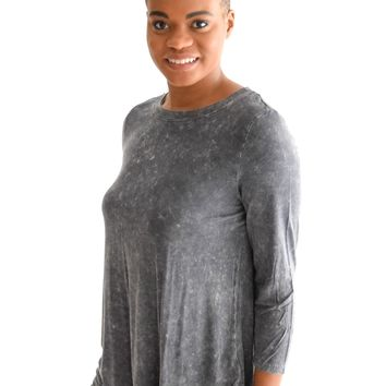 Golden Meadow Top In Charcoal