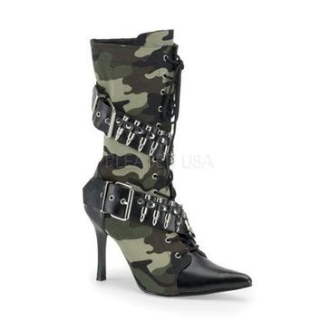 Womens Halloween Sexy Camouflage Militant Heeled Boots size 9 - Walmart.com