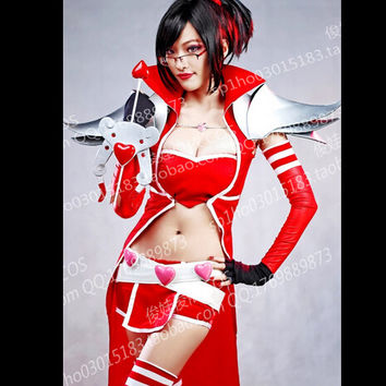 halloween costume for women  lol VN Vayne RED cosplay costume full set
