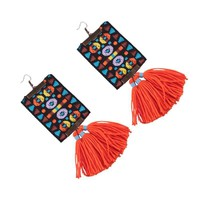 Uniquee Hand-woven Statement Drop Earrings