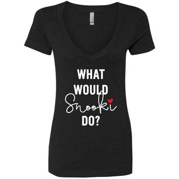 "MTV Jersey Shore ""What Would Snooki Do?"" V-Neck T-Shirt"