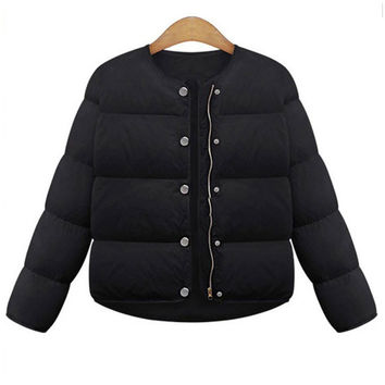 Solid Color Padded Jacket