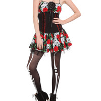 Day Of The Dead Rose Skull Dress