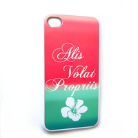 iPhone 4 4S Case Alis Volat Propriis Rubber iphone case Ships from USA