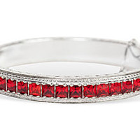 Allco Red Bangle Bracelet