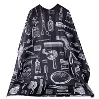 Pro Salon Hairdressing Hairdresser Hair Cutting Gown Barber Cape Cloth Black #68829