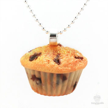 Scented Blueberry Muffin Necklace
