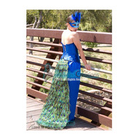 Peacock Train - Peacock Feather Bustle Tail -- Peacock Wedding - Peacock Costumes