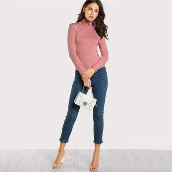 Women Long Sleeve Brief Tops Fall Fashion Casual Sexy Stretchy T-Shirt