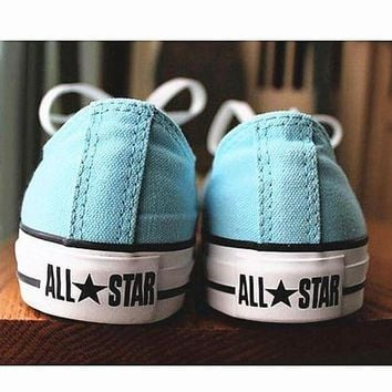 DCKL9 Women With Men White 'Converse' Fashion Canvas Flats Sneakers Sport Shoes